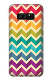 S2362 Rainbow Colorful Shavron Zig Zag Pattern Case For Note 8 Samsung Galaxy Note8