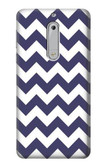 S2345 Navy Blue Shavron Zig Zag Pattern Case For Nokia 5