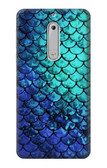 S3047 Green Mermaid Fish Scale Case For Nokia 5