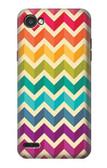 S2362 Rainbow Colorful Shavron Zig Zag Pattern Case For LG Q6