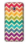 S2362 Rainbow Colorful Shavron Zig Zag Pattern Case For HTC U11