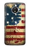 S2349 Old American Flag Case For Motorola Moto E4 Plus