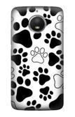 S2904 Dog Paw Prints Case For Motorola Moto E4 Plus