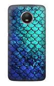S3047 Green Mermaid Fish Scale Case For Motorola Moto E4 Plus