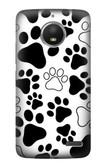 S2904 Dog Paw Prints Case For Motorola Moto E4