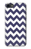 S2345 Navy Blue Shavron Zig Zag Pattern Case For iPhone 8