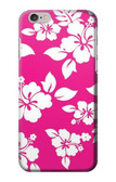 S2246 Hawaiian Hibiscus Pink Pattern Case For iPhone 6 6S