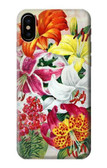 S3205 Retro Art Flowers Case For iPhone 8