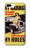S3198 My Garage Pinup Girl Case For iPhone 8 Plus