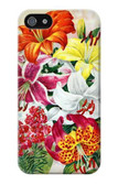 S3205 Retro Art Flowers Case For iPhone 4 4S