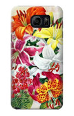 S3205 Retro Art Flowers Case For Samsung Galaxy S6 Edge Plus
