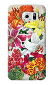S3205 Retro Art Flowers Case For Samsung Galaxy S6 Edge
