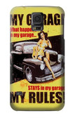 S3198 My Garage Pinup Girl Case For Samsung Galaxy S5 mini