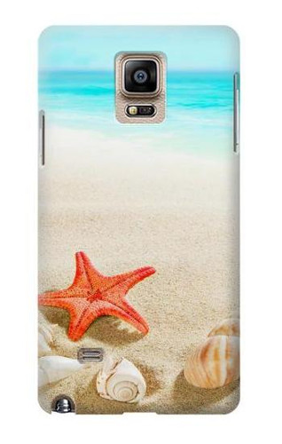 S3212 Sea Shells Starfish Beach Case For Samsung Galaxy Note 4