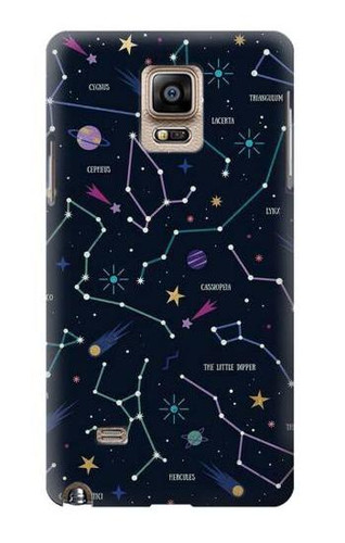 S3220 Star Map Zodiac Constellations Case For Samsung Galaxy Note 4