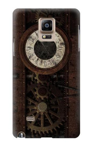 S3221 Steampunk Clock Gears Case For Samsung Galaxy Note 4