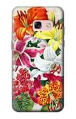 S3205 Retro Art Flowers Case For Samsung Galaxy A3 (2017)