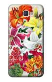 S3205 Retro Art Flowers Case For Samsung Galaxy J7 Prime (SM-G610F)