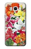 S3205 Retro Art Flowers Case For Samsung Galaxy J5 (2016)