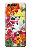 S3205 Retro Art Flowers Case For Huawei P10