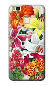 S3205 Retro Art Flowers Case For Huawei P9 Lite