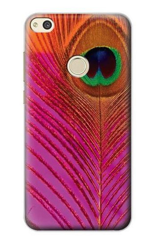 S3201 Pink Peacock Feather Case For Huawei P8 Lite (2017)