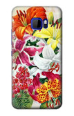 S3205 Retro Art Flowers Case For HTC U Ultra