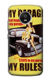 S3198 My Garage Pinup Girl Case For Motorola Moto G5