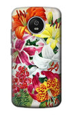 S3205 Retro Art Flowers Case For Motorola Moto G5