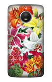 S3205 Retro Art Flowers Case For Motorola Moto E4 Plus