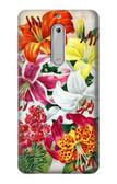 S3205 Retro Art Flowers Case For Nokia 5