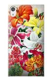 S3205 Retro Art Flowers Case For Sony Xperia XA1