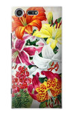 S3205 Retro Art Flowers Case For Sony Xperia XZ Premium