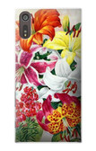 S3205 Retro Art Flowers Case For Sony Xperia XZ