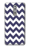 S2345 Navy Blue Shavron Zig Zag Pattern Case For Nokia 8