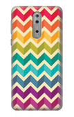S2362 Rainbow Colorful Shavron Zig Zag Pattern Case For Nokia 8