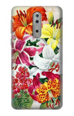 S3205 Retro Art Flowers Case For Nokia 8