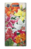 S3205 Retro Art Flowers Case For Sony Xperia XZ1
