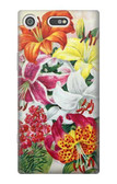 S3205 Retro Art Flowers Case For Sony Xperia XZ1 Compact