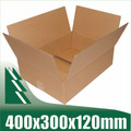 10 x Cardboard Boxes 400x300x120mm Brown