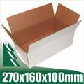 20 x White Cardboard Boxes Box for 3kg Australia Post Satchels 270x160x100mm