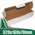 20 x Cardboard Boxes 320x160x70mm White Packaging Carton