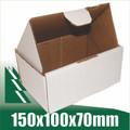 20 x Cardboard Boxes 150x100x70mm White Packaging Carton