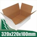 20 x Cardboard Boxes 320x220x100mm White Packaging Carton
