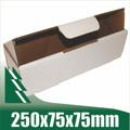 20 x Bottle Boxes 250x75x75mm White Cardboard Packaging Carton
