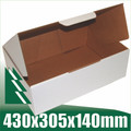 20 x Cardboard Boxes 430x305x140mm White Packaging Carton