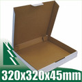 20 x Pizza Boxes 320x320x45mm White Packaging Carton