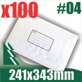 100 x #4 Bubble Mailers 241 x 343mm