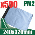 500 x #2 Poly Mailers 240 x 320 mm Courier Bag