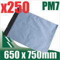 250 x #7 Poly Mailers 650 x 750 mm Courier Bag